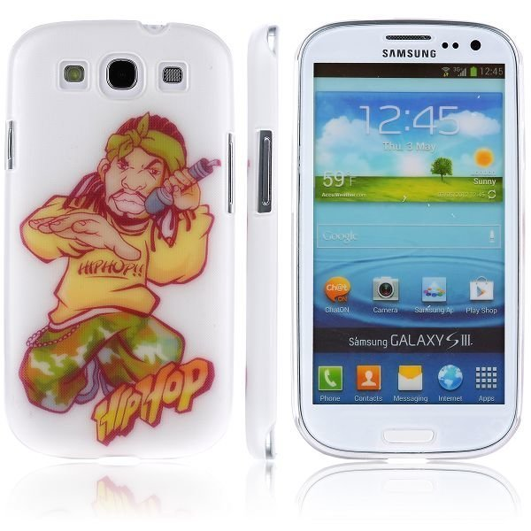 Boy Street Funk Valkoinen Räppäri Samsung Galaxy S3 Suojakuori