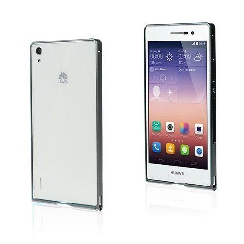 Brandes Musta Huawei Ascend P7 Alumiini Suojakehys