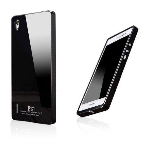 Brandes Musta Huawei Ascend P7 Alumiini Suojakuori