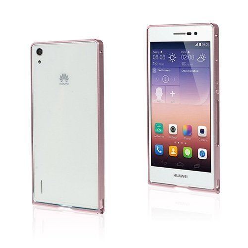 Brandes Pinkki Huawei Ascend P7 Alumiini Suojakehys