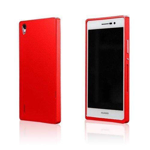 Brandes Punainen Huawei Ascend P7 Alumiini Suojakuori