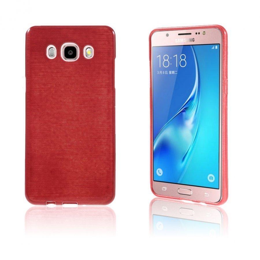 Bremer Kiiltävä Kuori Samsung Galaxy J5 2016 Puhelimelle Punainen
