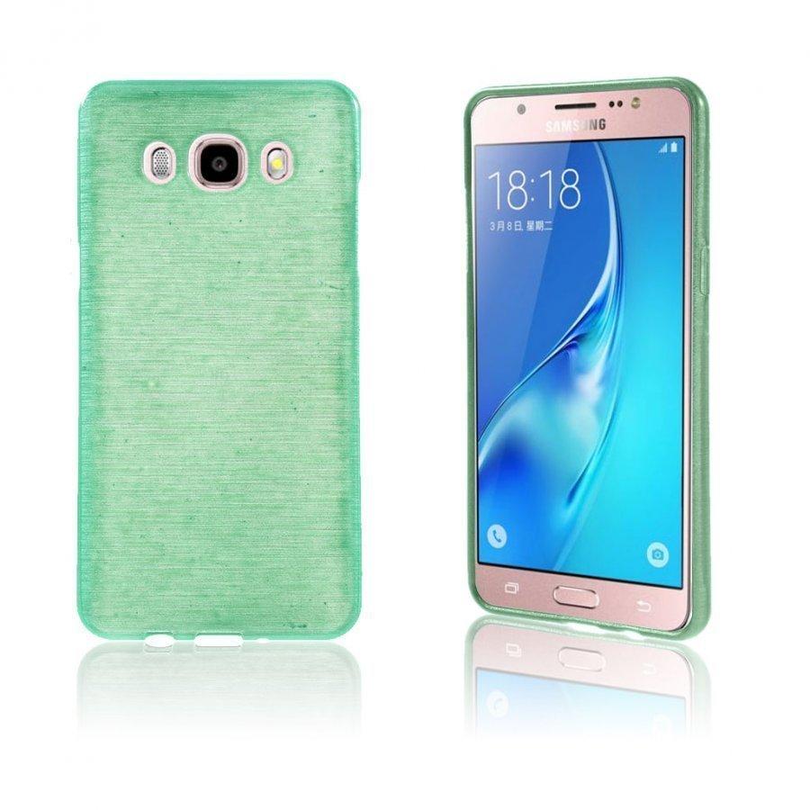Bremer Kiiltävä Kuori Samsung Galaxy J5 2016 Puhelimelle Syaani