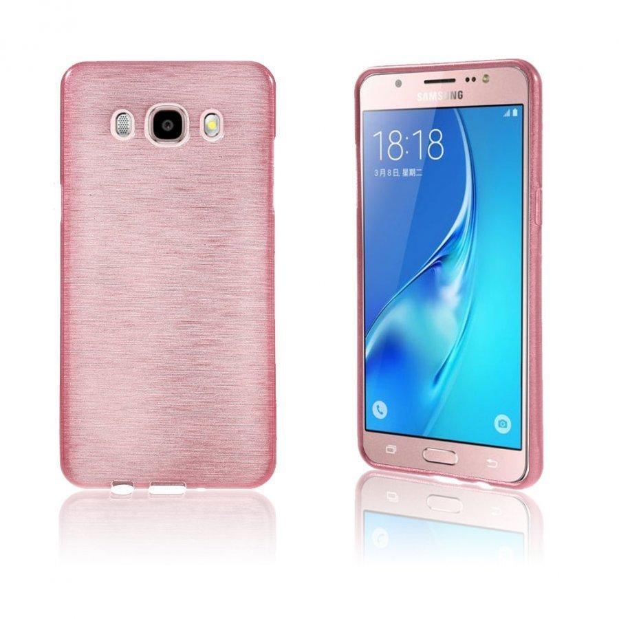 Bremer Kiiltävä Kuori Samsung Galaxy J5 2016 Puhelimelle Vaalea Pinkki
