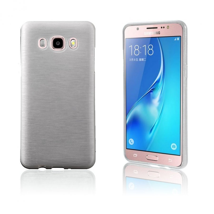 Bremer Kiiltävä Kuori Samsung Galaxy J5 2016 Puhelimelle Valkoinen
