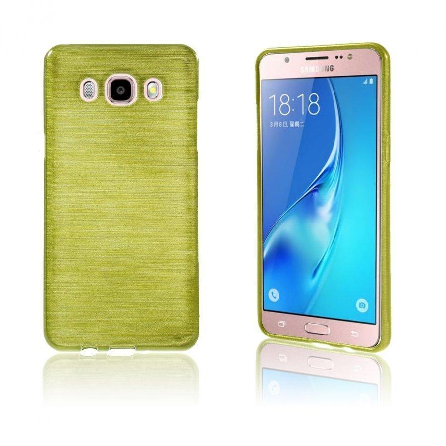 Bremer Kiiltävä Kuori Samsung Galaxy J5 2016 Puhelimelle Vihreä