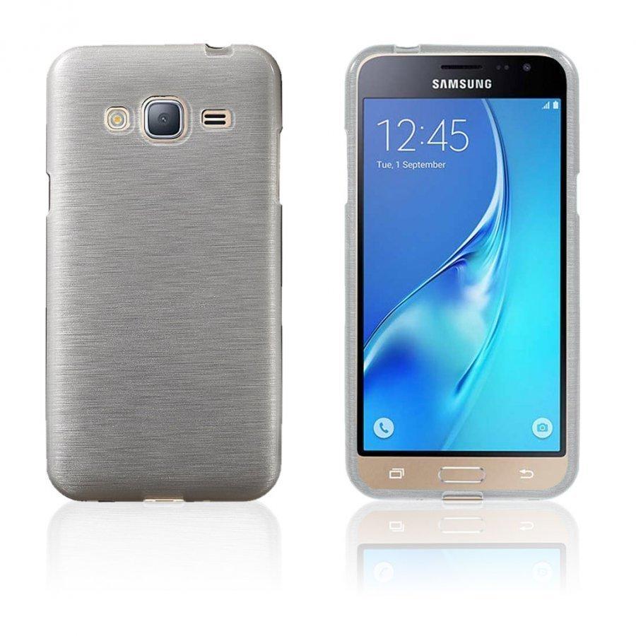 Bremer Samsung Galaxy J3 2016 Kiiltävä Ja Joustava Kuori Valkoinen