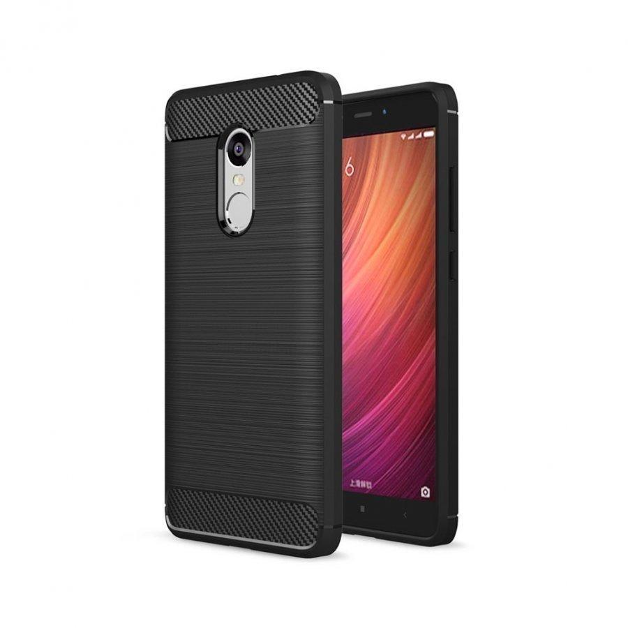 Bremer Xiaomi Redmi Note 4 Joustava Hiilikuitu Muovikuori Musta