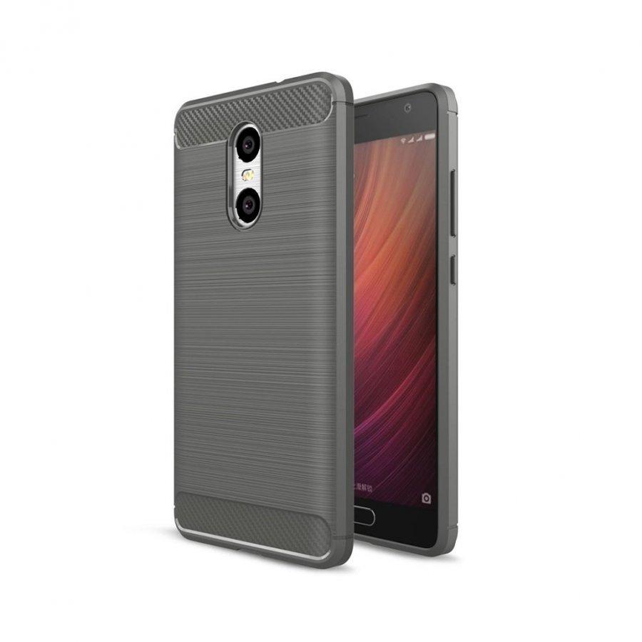 Bremer Xiaomi Redmi Pro Joustava Hiilikuitu Muovikuori Harmaa