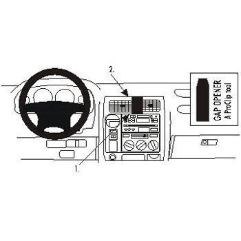 Brodit 852749 ProClip Toyota LandCruiser 90 97-02