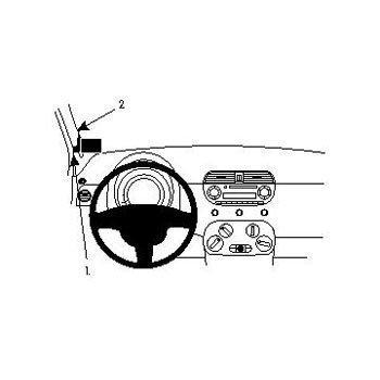 Brodit ProClip Fiat 500 07-10