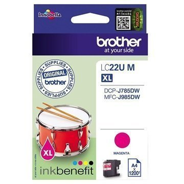 Brother LC22UM Mustepatruuna XL Magenta