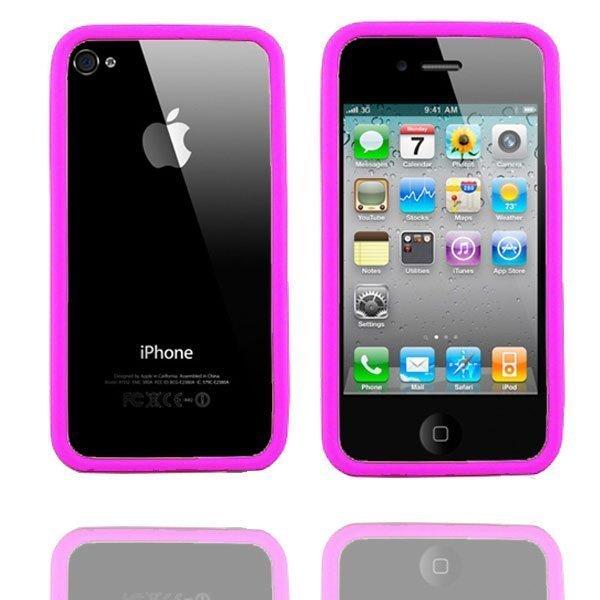 Bumper I4 Kuuma Pinkki Iphone 4 / 4s Bumper Suojakehys