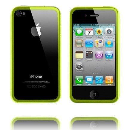 Bumper Läpikuultava Keltainen Iphone 4 Silikonikuori