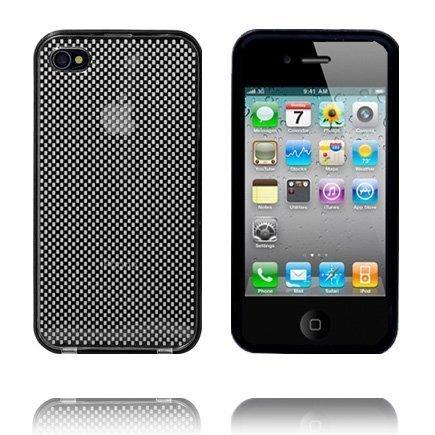 Bumper Suojakehys Irroitettavalla Taustalla Musta Iphone 4 Suojakehys
