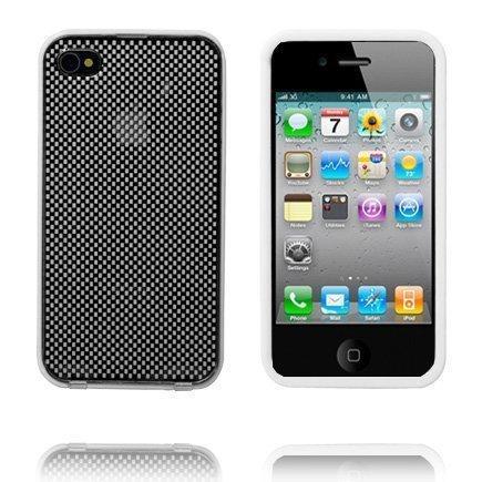 Bumper Suojakehys Irroitettavalla Taustalla Valkoinen Iphone 4 Suojakehys