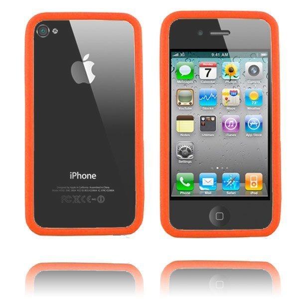 Bumper Vankka Reunus Oranssi Iphone 4 Suojakehys