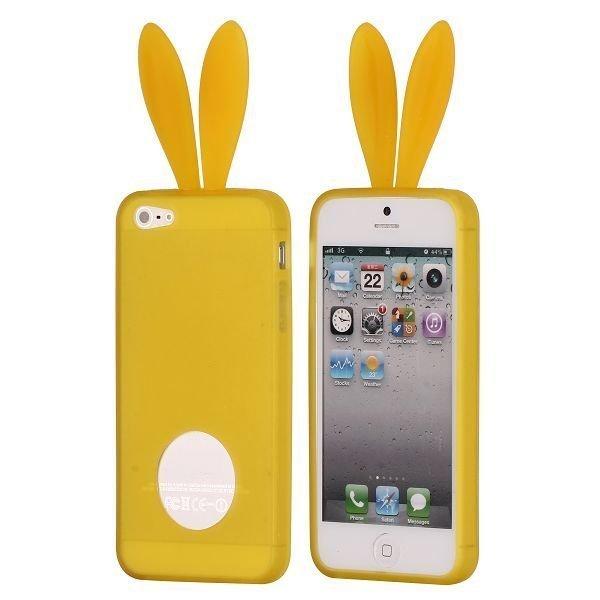 Bunny Keltainen Iphone 5 Silikonikuori