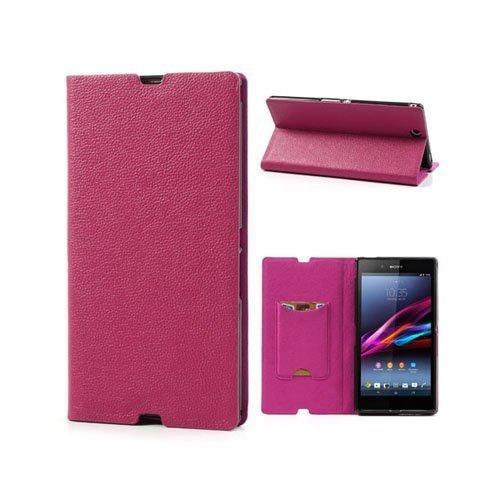Business Sony Xperia Z Ultra Nahkakotelo Kuuma Pinkki