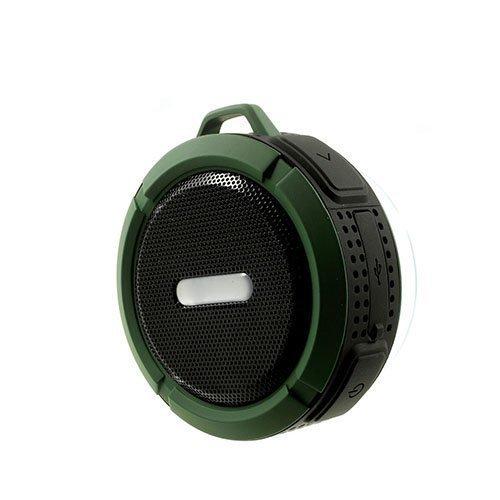 C6 Vedenkestävä Bluetooth Kaiutin Pyörätelineellä Armeijanvihreä