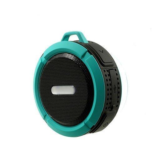 C6 Vedenkestävä Bluetooth Kaiutin Pyörätelineellä Sininen