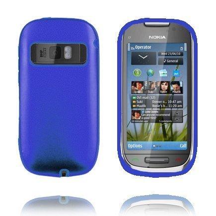 C7 Guard Sininen Nokia C7 Silikoni / Metalli Suojakuori