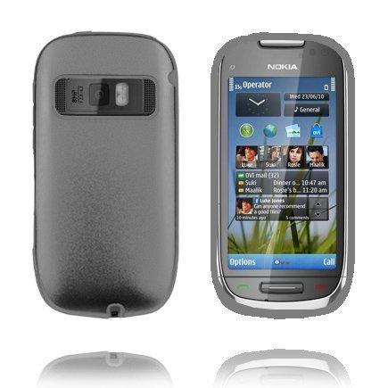 C7 Guard Tummanharmaa Nokia C7 Silikoni / Metalli Suojakuori