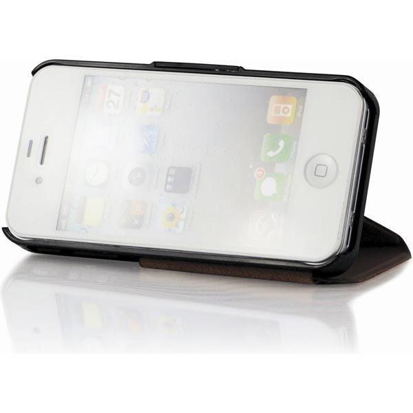 CDN Trigon muovi- ja nahkasuojus iPhone 4/4S malliin ruskea