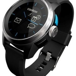 COOKOO Bluetooth watch Silver on Black