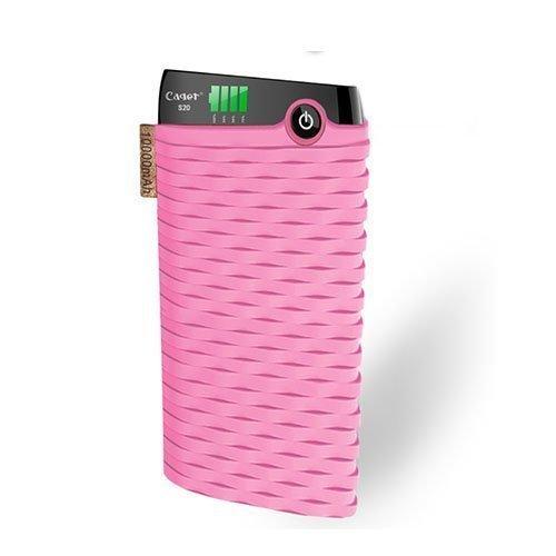 Cager S20 10000mah Kaksois-Usb Varavirtalähde Älypuhelimille Pinkki