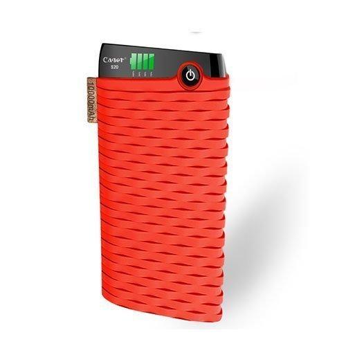 Cager S20 10000mah Kaksois-Usb Varavirtalähde Älypuhelimille Punainen