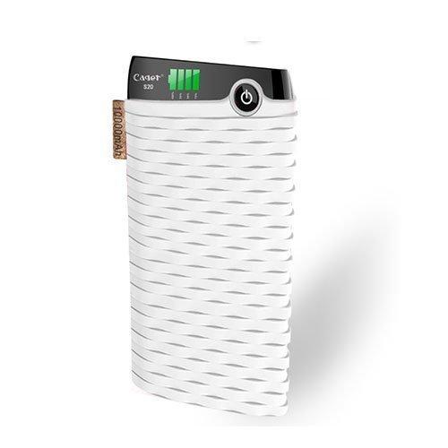 Cager S20 10000mah Kaksois-Usb Varavirtalähde Älypuhelimille Valkoinen