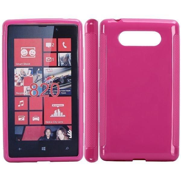 Candy Color Pinkki Nokia Lumia 820 Suojakuori
