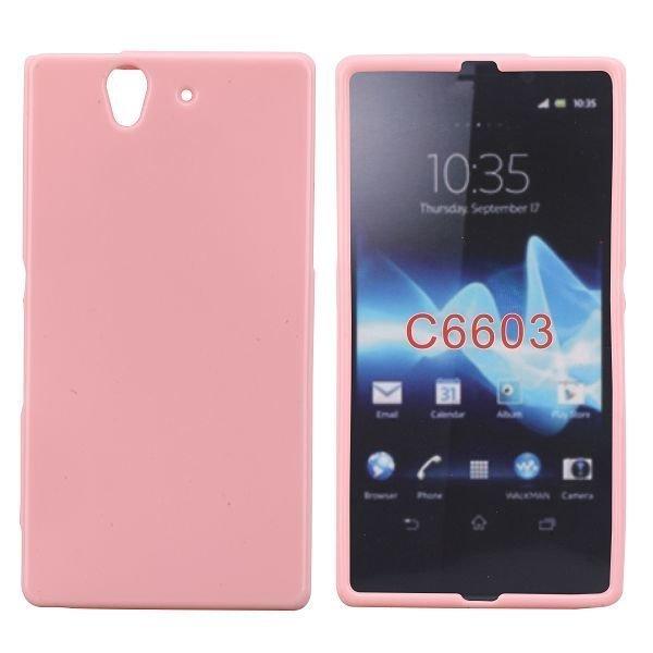 Candy Color Pinkki Sony Xperia Z Suojakuori