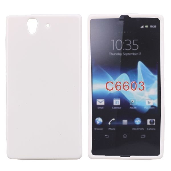 Candy Color Valkoinen Sony Xperia Z Silikonikuori