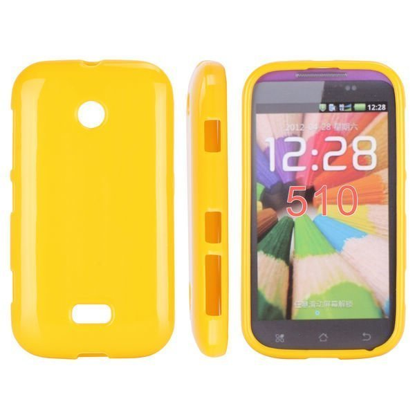 Candy Colors Keltainen Nokia Lumia 510 Silikonikuori