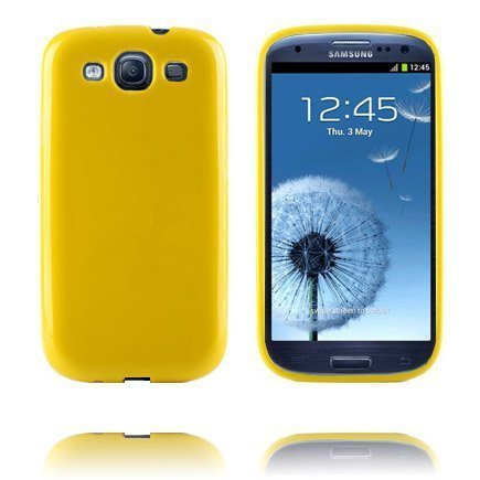 Candy Colors Keltainen Samsung Galaxy S3 Silikonikuori
