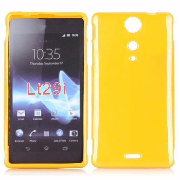 Candy Colors Keltainen Sony Xperia Tx Silikonikuori