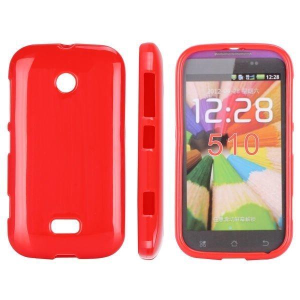 Candy Colors Punainen Nokia Lumia 510 Silikonikuori