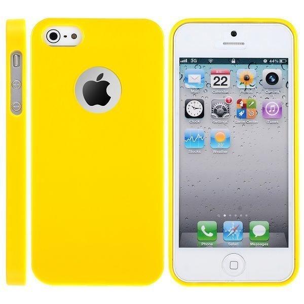 Candy Logocut Keltainen Iphone 5 Silikonikuori