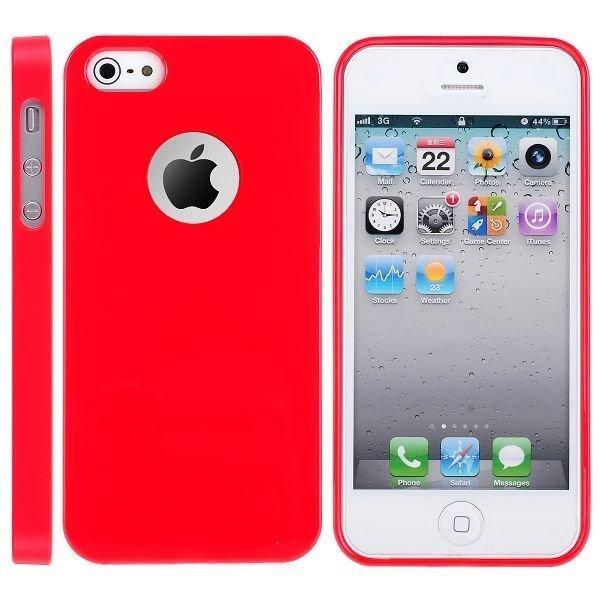 Candy Logocut Punainen Iphone 5 Silikonikuori