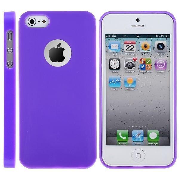 Candy Logocut Violetti Iphone 5 Silikonikuori