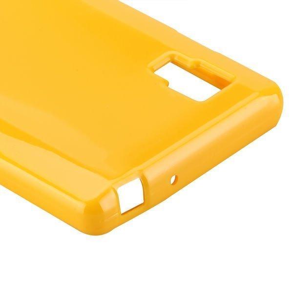 Candy Shell Keltainen Lg Optimus L9 Silikonikuori