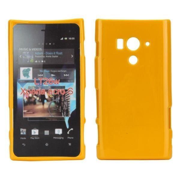 Candy Shell Keltainen Sony Xperia Acro S Silikonikuori