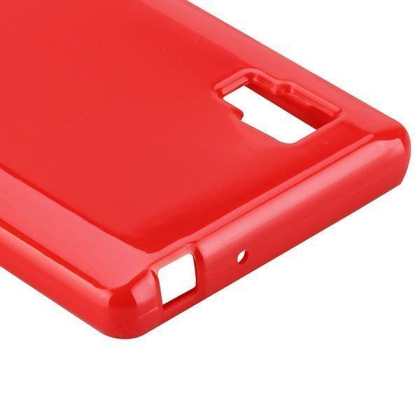 Candy Shell Punainen Lg Optimus L9 Silikonikuori