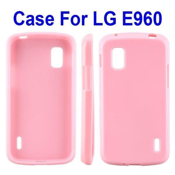 Candy Shell Vaaleanpunainen Google Nexus 4 Suojakuori