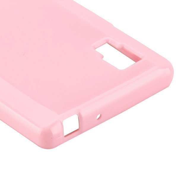 Candy Shell Vaaleanpunainen Lg Optimus L9 Suojakuori