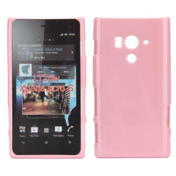 Candy Shell Vaaleanpunainen Sony Xperia Acro S Suojakuori