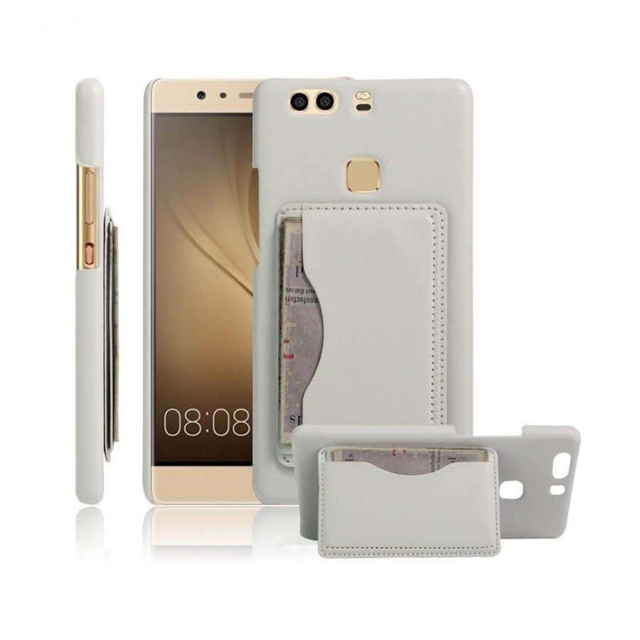 Cangaroo Huawei P9 Plus Vanhanaikainen Nahkakuori Valkoinen