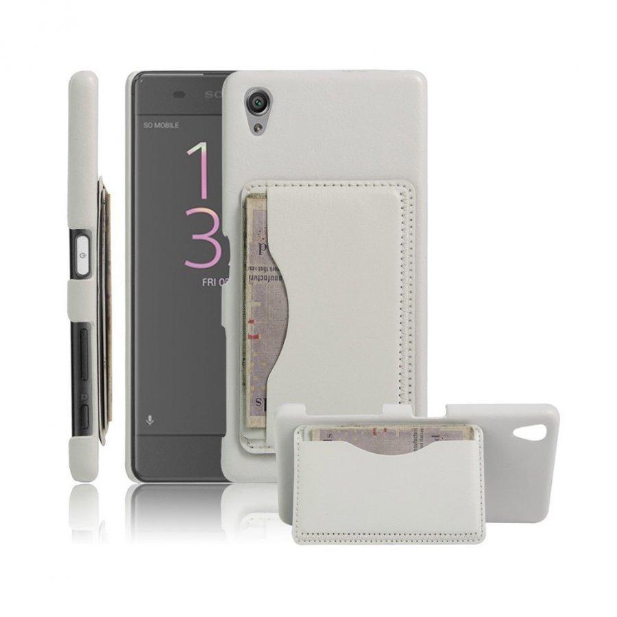 Cangaroo Sony Xperia X Performance Vanhanaikainen Nahkakuori Valkoinen